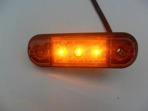 LED toplamp contourlamp oranje/amber 3 leds KP-708