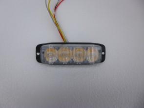LED flitser 4 leds oranje/amber KP-FL3016