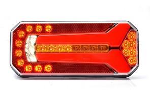 LED achterlicht 12/24Volt met Dynamisch knipperlicht  KP-1123DD